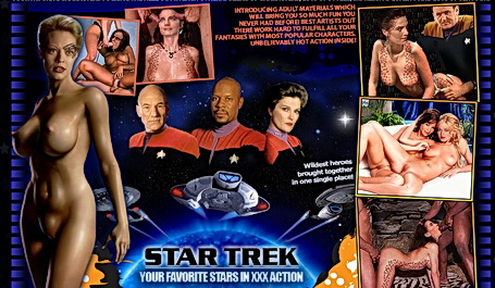 Famous TV show Star Trek as XXX version. star trek xxx tv show
